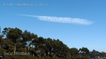 "10/3/12 La Jolla 1:18pm - Chemtrail ""quill pen"" or ""feather"" synthetic cloud formation."