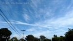 10/4/2012 La Jolla 1:10pm - Chemtrail X over San Diego with HAARP waves forming in the surrounding chemically induced high altitude haze.