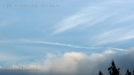 10/5/2012 San Diego 7:26am - Chemtrails above the clouds.