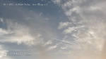 10/5/2012 San Diego 6:08pm - Chem plane spraying aerosols above clouds with HAARP wave line formations.