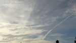 10/6/2012 San Diego 8:00am - The new chemtrail quickly expands as chem haze forms between the two trails. Geoengineered fake cloud cover.