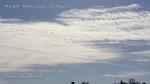 10/6/2012 San Diego 10:13am - Zoomed in view of massive HAARP wave generated chem cloud bank bisected with a dark line chemtrail shadow.
