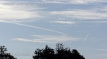 10/6/2012 San Diego 10:14am - The two chemtrails curve toward each other. Note the HAARP wave thumbprint cloud formation.