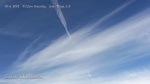 10/6/2012 San Diego 11:52am - Another spray plane follows right behind the previous plane and leaves a parallel trail in taffy-like chem haze.