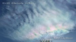 10/6/2012 San Diego 12:21pm - Iridescent chem cloud with HAARP wave formations.
