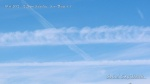 10/6/2012 San Diego 12:26pm - Fresh chemtrail crosses expanding parallel chem plumes.
