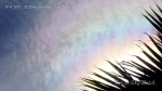 10/6/2012 San Diego 12:27pm - Chem haze clouds turn iridescent when passing by the sun.