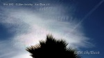 10/6/2012 San Diego 12:28pm - Fresh chemtrail expands across iridescent HAARP wave cloud formation.