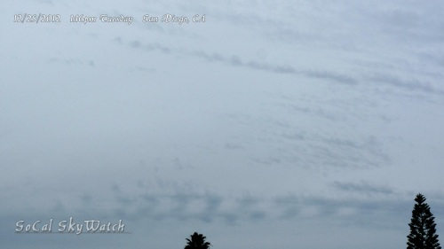 Chemtrails forming fractal HAARP wave patterns.