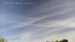 "8:10am Expanded chemtrails mix together forming wispy ""cotton candy"" streamers."