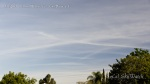 9:11am Rows of chemtrail line clouds in all directions.