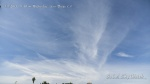 9:40am Streaky chemtrail cloud cover.
