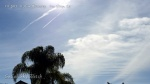 11:37am Chemtrail, spray plane and HAARP wave thickened chem cloud.