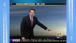CBS8 Weather news time-lapse video. Matt Baylow points out the low clouds and ignores excessive chemtrails.