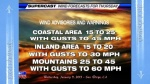 KUSI Weather with John Coleman and weather graphics with blatant chemtrail.