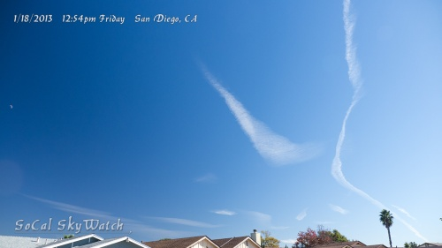 Expanding chemtrail line segment fake clouds.